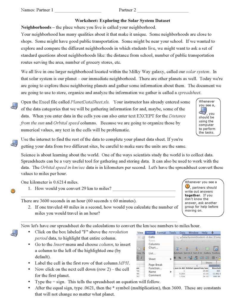 worksheet Solar System Worksheets Pdf solar system worksheets pdf pics about space word exploring the sol